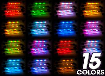 motorcycle LED lights in 9 colors