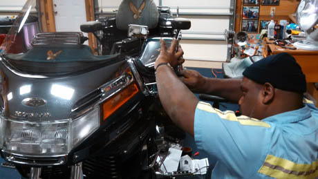 installing LED lights on a motorcycle